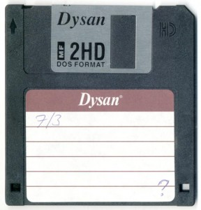 An old 3 and a half inch Floppy Disk.