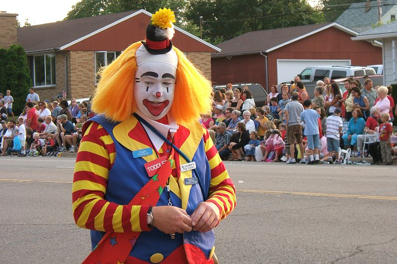 Clowns can be lots of fun or lots of terror