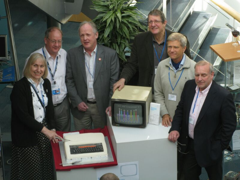 BBC_Micro_creators_with_birthday_cake_in_2012